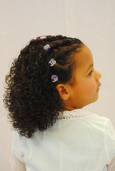 Styling for little girls with very curly hair