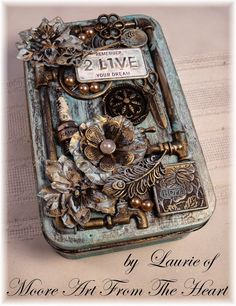 Moore Art From The Heart: Tin with Painted Patina