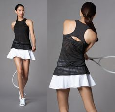 Great tennis outfit style, elegance in gorgeous