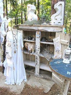 Romantic farmhouse booth at country living fair