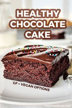 This healthy chocolate cake is super moist, made a little healthier with whole wheat flour and is honey-sweetened. Can also be made gluten-free or vegan! Honey Chocolate, Gluten Free Chocolate, Homemade Chocolate, Chocolate Desserts, Healthy Desserts, Healthy Chocolate Cakes, Delicious Chocolate, Healthy Cake Recipes, Healthy Sweets