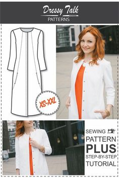 Womens Sewing Patterns - Sewing Tutorials - Coat Patterns - Summer Coat Sewing…