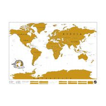 Scratch map für kleine Globetrotter