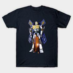 10th Doctor With Big Giant Retro Transformers Phone box Unisex T-Shirt #teepublic #tee #tshirt #clothing #tardisdoctorwho #police #publiccallbox #davidtennant #starrynight #vangogh #transformers #autobots #robot #warmachine #timemachine