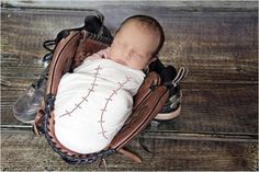 In Dad's baseball glove!