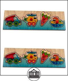 Hess 14806 - Juguete de madera (rompecabezas mango, coches 4 piezas)  ✿ Regalos para recién nacidos - Bebes ✿ ▬► Ver oferta: http://comprar.io/goto/B00403TK22