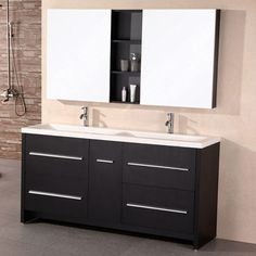 "Donovan 63"" Double Sink Vanity Set 