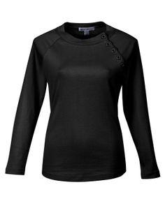 Women's Preshrunk Rib Scoop Neck Long Sleeve Knit (100% Cotton 1*1) Tri mountain LB393