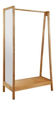 gilda kleiderst nder aus holz und schwarzem metall kleiderst nder pinterest metalle. Black Bedroom Furniture Sets. Home Design Ideas