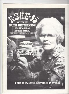 "KSHE's ""Rock and Roll Grandma"" Ruth Hutchinson, 1982"