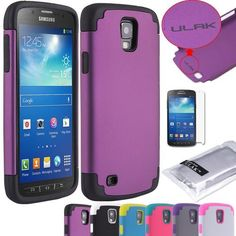 Pandamimi ULAK(TM) 2-Piece Hybrid High Impact Case with Soft Silicone Shell for Samsung Galaxy S4 Active i9295 with Free Screen Protector (cleaning cloth with ULAK Logo)(Purple & Black) by ULAK, http://www.amazon.com/dp/B00F06RBQ0/ref=cm_sw_r_pi_dp_tnulsb18968XS