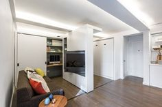 5:1 (Five in One) Small Space Apartment with Sliding Wall   Apartment Therapy