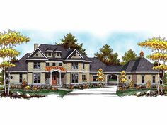 Country House Plan with 4308 Square Feet and 4 Bedrooms from Dream Home Source | House Plan Code DHSW52273