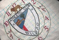 Reloj Atlhetic club Bilbao punto de cruz