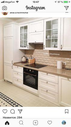 Кухня Kitchen Cabinets Decor, Kitchen Room Design, Living Room Kitchen, Home Decor Kitchen, Rustic Kitchen, Interior Design Kitchen, New Kitchen, Home Kitchens, Small Space Interior Design