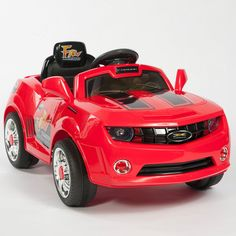 Kids Red Camaro Style Ride On RC Car Remote Control Battery Powered Wheels MP3 #EuroPacific #BatteryPowerRideOnToyCar