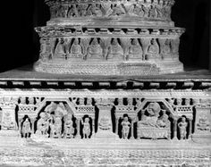 Stupa with life scenes