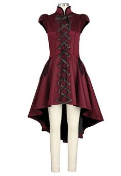 Victorian Gothic Lace Up  Dress