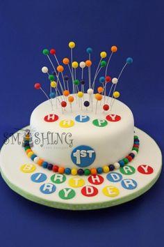 Bouncing balls cake.