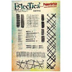 Paper Artsy ELLEN VARGO 05 ECLECTICA3 Rubber Cling Stamp EEV05