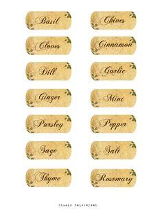 Studio PaisleyCat's Freebie Blog: Spice Jar Labels