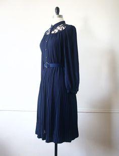 Vintage Dress Japanese Dress Midnight by StandardVintage