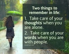 Remember two things...