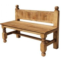 Relax on this beautiful rustic bench with a frosty margarita or a cold cerveza and you'll feel like you're in Old Mexico.  The simple and elegant lines blend well with any decor.  It can be placed outside on a covered porch or inside along a wall for extra seating.  Throw some bright pillows on it for color and comfort.