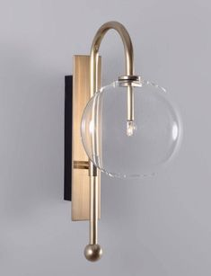 Solid brass wall scone