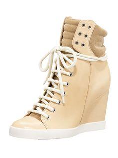 15d935f017da See By Chloe high top wedge sneaker High Top Wedge Sneakers