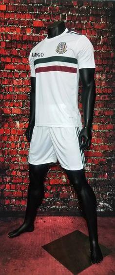 2017 Cheap Adult Mexico Away White Soccer Jersey Uniforms Men Football Jersey Set Shirt+Short Tracksuit