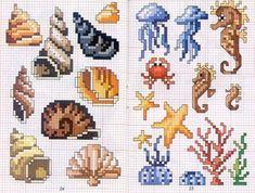 Cross Stitch Sea, Small Cross Stitch, Cross Stitch Animals, Cross Stitch Charts, Cross Stitching, Cross Stitch Embroidery, Embroidery Patterns, Wedding Cross Stitch Patterns, Cross Stitch Designs
