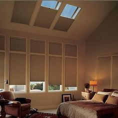 Uncovered skylights keeping you awake? Sleep soundly with Blackout Skylight Shades that block light and keep your home more efficient.