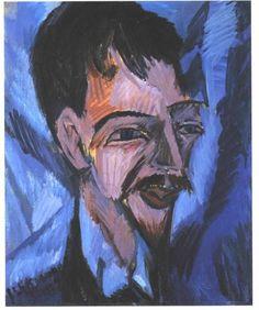 Dr. Alfred Doblin, 1912 , by Ernst Ludwig Kirchner