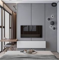 Cool Bedroom Tv Wall Design Ideas, So far as your bedroom is concerned, there is absolutely no dearth of alternatives available in the industry. The bedroom is the very best selection. Modern Bedroom Design, Contemporary Bedroom, Modern Room, Bedroom Designs, Bedroom Tv Unit Design, Tv Console Design, Modern Contemporary, Bedroom Tv Wall, Bedroom Decor