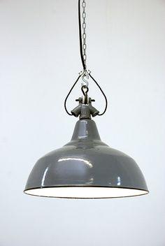"""Suspension industrielle en métal emaillé, 1950 """"Otarie"""""""