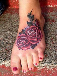 Rose foot Tattoo, fun little piece in Tattoo by Jon Von Glahn