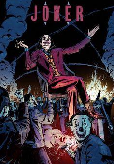 Joker × by Roman Stevens [OC] - MoviePosterPorn Comic Del Joker, Joker Dc Comics, Dc Comics Art, Joker Images, Joker Pics, Joker Art, Joker Clown, Batman Joker Wallpaper, Joker Wallpapers