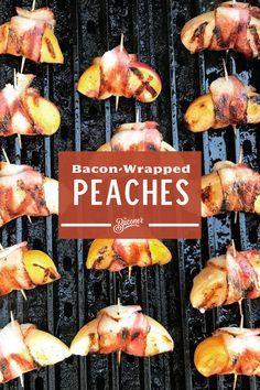 Nothing says summertime grilling more than these peaches wrapped in The Baconer's Small Batch Bacon. Grilling Recipes, Cooking Recipes, Bacon Wrapped, Appetizer Recipes, Recipes Dinner, Finger Foods, Food To Make, Food And Drink, Yummy Food
