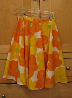 How to make a circle skirt with an elastic casing waistband | My Imaginary Blog