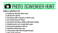 photo scavenger hunt--for kids! free printable - A girl and a glue gun