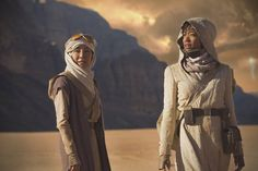 First image of Star Trek: Discovery (2017). Michelle Yeoh as Captain Philippa Georgiou and Sonequa Martin-Green as First Officer Michael Burnham.