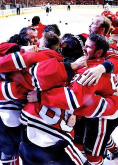 we are champions. Blackhawks Hockey, Hockey Teams, Chicago Blackhawks, Hockey Players, Hockey Baby, Ice Hockey, Hockey Rules, Stars Hockey, Columbus Blue Jackets