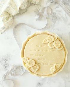Darcy Quotes, Pride and Prejudice, Romantic Quotes Birthday Pies, Quiche, Pie Crust Designs, Pie Decoration, Pies Art, Almond Paste, Fruit Pie, No Bake Pies, Pie Recipes