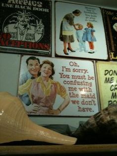 Love these vintage looking funny signs