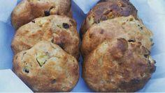 Kwark broodjes met appel en kaneel