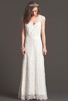 Sarah Seven lace wedding dress
