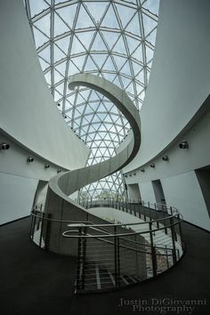 Dali Museum's Spiral Staircase, Florida