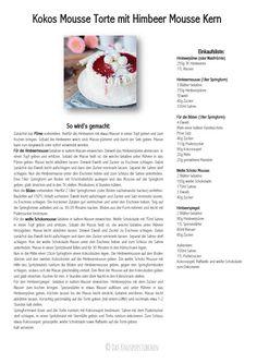 Kokos Mousse Torte mit Himbeer Mousse Kern Rezept Recipe-001