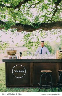 They had a special gin bar with their favourite combinations for guests to enjoy!